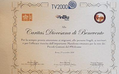 Riconoscimento di TV2000 per l'azione del Manifesto per una Rete PCW
